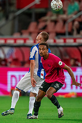 "Tommy St. Jago #25 of Utrecht in action. FC Utrecht convincingly won the practice match against sc Heerenveen. The ""Domstedelingen"" were too strong for SC Heerenveen in Stadium Galgenwaard with 4-1<br /> on August 20, 2020 in Utrecht, Netherlands"