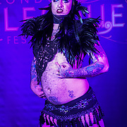 London,England,UK. 22th May 2017. Lou Safire preforms at the London Burlesque Festival 2017 - Tattoo Revue at Moth Club, Hackney,London,UK. by See Li