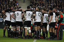 New-Zealand's team during a rugby friendly Test match, France vs New-Zealand in Stade de France, St-Denis, France, on November 11th, 2017. France New-Zealand won 38-18. Photo by Henri Szwarc/ABACAPRESS.COM