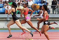 Samsung Diamond League adidas Grand Prix track & field; women's 400 meter hurdles, T'erea Brown (5), winner