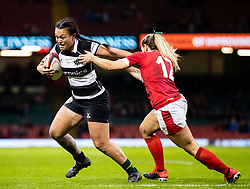 Ariana Hira of Barbarians under pressure from Kerin Lake of Wales<br /> <br /> Photographer Simon King/Replay Images<br /> <br /> Friendly - Wales v Barbarians - Saturday 30th November 2019 - Principality Stadium - Cardiff<br /> <br /> World Copyright © Replay Images . All rights reserved. info@replayimages.co.uk - http://replayimages.co.uk