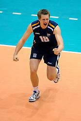 18-05-2008 VOLLEYBAL: EK KWALIFICATIE NEDERLAND - SLOVENIE: ROTTERDAM<br /> Nederland wint ook de laatste wedstrijd met 3-0 - Jelte Maan<br /> ©2008-WWW.FOTOHOOGENDOORN.NL