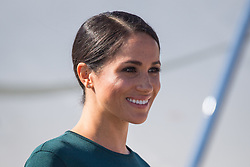 The Duchess of Sussex arrives at Dublin City Airport for the start of her visit to Dublin, Ireland, with her husband the Duke of Sussex.