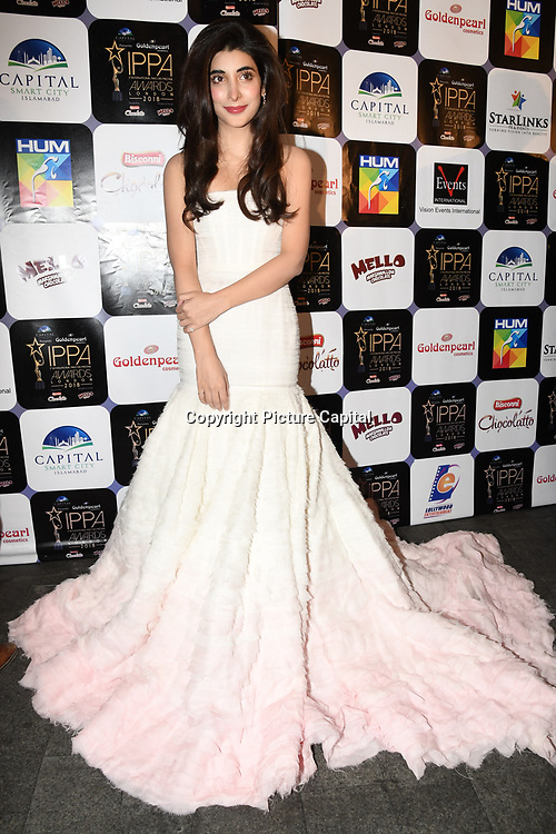 Urwa Hocane Pakistani VJ model and actress arrives at the Annual International Pakistan Prestige Awards (IPPA) at Indigo at The O2 on 9th September 2018, London, UK.