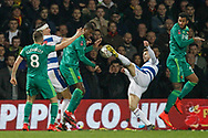 Queens Park Rangers midfielder Luke Freeman (7) kicks the ball during The FA Cup 5th round match between Queens Park Rangers and Watford at the Loftus Road Stadium, London, England on 15 February 2019.