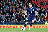 Scotland midfielder Stuart Armstrong (8) (Southampton) <br />  during the Friendly international match between Scotland and Portugal at Hampden Park, Glasgow, United Kingdom on 14 October 2018.