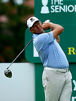 Golf - 2019 Senior Open Championship at Royal Lytham & St Annes - First Round <br /> <br /> Retief Goosen (RSA) drives off the 16th tee..<br /> <br /> COLORSPORT/ALAN MARTIN