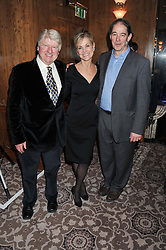 Left to right, STANLEY JOHNSON, KARENA ALBERS and SIR JONATHON PORRITT at the launch of Whole World Water at The Savoy Hotel, London on 22nd March 2013.
