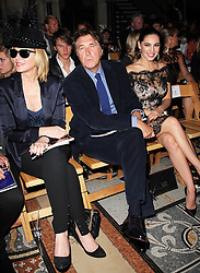 Kim Cattrall ,Bryan Ferry and Kelly Brook  at the Philip Treacy show  at London Fashion Week for Spring/Summer 2013, Saturday, 15th September 2012 Photo by: Stephen Lock / i-Images