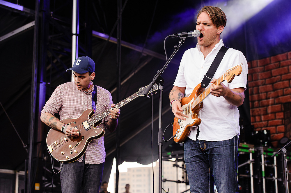 Photos of the band Cold War Kids performing at Catalpa Music Festival on Randall's Island, NYC. July 29, 2012. Copyright © 2012 Matthew Eisman. All Rights Reserved.