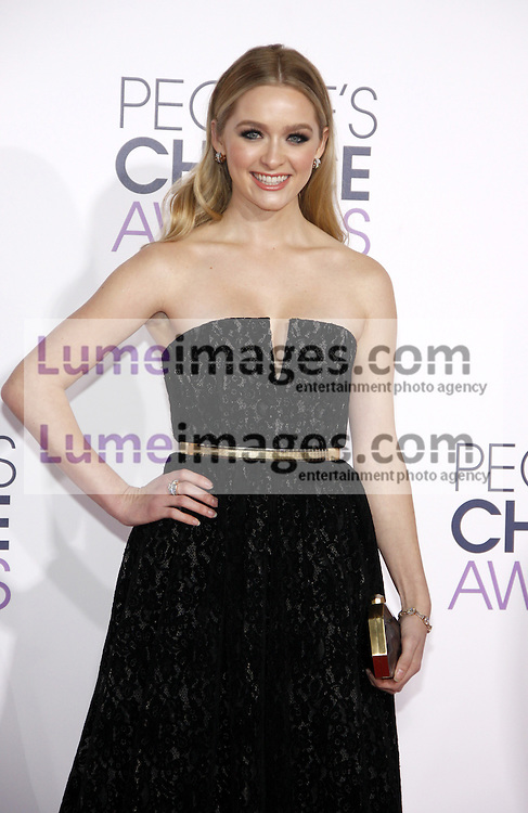 Greer Grammer at the 41st Annual People's Choice Awards held at the Nokia L.A. Live Theatre in Los Angeles on January 7, 2015. Credit: Lumeimages.com