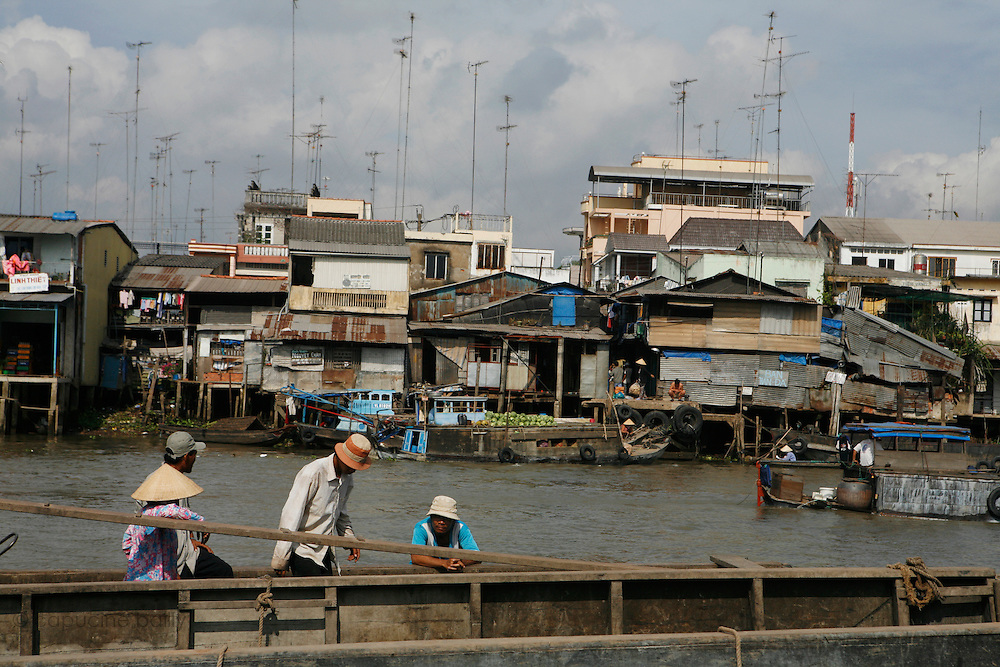 Cai Be, on the Mekong River, Vietnam. .March 18th 2007..The floating market of Cai Be on the the first arm (Tien Gang) of the Mekong