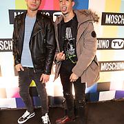 NLD/Amsterdam/20181105 - Lancering De Moschino TV x H&M-collectie, Soufyan Gnini en Tim van Riel