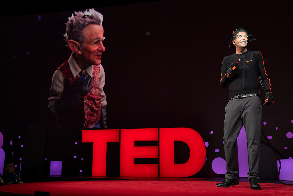 Doug Roble speaks at TED2019: Bigger Than Us. April 15 - 19, 2019, Vancouver, BC, Canada. Photo: Bret Hartman / TED