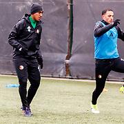 NLD/Rotterdam/20180301 - Training Feyenoord voor de bekerfinale, Renato Tapia en Sofyan Amrabat