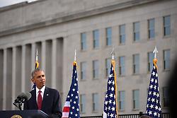 Remember 9/11: US Pr‰sident Barack Obama bei einer Gedenkveranstaltung am Pentagon<br /> <br /> / 110916<br /> <br /> *** U.S President Barack Obama speaks during a ceremony commemorating the 15th anniversary of the 9/11 terrorist attacks at the Pentagon September 11, 2016 in Arlington, Virginia.  ***