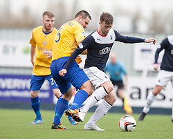 Cowdenbeath's John Armstrong and Falkirk's Rory Loy.<br /> half time : Falkirk 3 v 0 Cowdenbeath, Scottish Championship game played today at The Falkirk Stadium.<br /> © Michael Schofield.