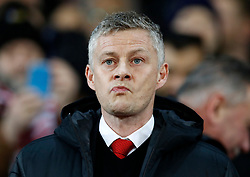 Manchester United caretaker manager Ole Gunnar Solskjaer during the UEFA Champions League round of 16, first leg match at Old Trafford, Manchester.