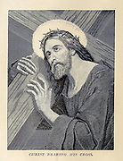 Christ Bearing His Cross From ' The pictorial Catholic library ' containing seven volumes in one: History of the Blessed Virgin -- The dove of the tabernacle -- Catholic history -- Apparition of the Blessed Virgin -- A chronological index -- Pastoral letters of the Third Plenary. Council -- A chaplet of verses -- Catholic hymns  Published in New York by Murphy & McCarthy in 1887