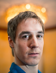 28.01.2014,  Marriott, Wien, AUT, Sochi 2014, Einkleidung OeOC, im Bild Johannes Dürr (Langlauf, AUT) // Johannes Dürr (Cross Country, AUT)  during the outfitting of the Austrian National Olympic Committee for Sochi 2014 at the  Marriott in Vienna, Austria on 2014/01/28. EXPA Pictures © 2014, PhotoCredit: EXPA/ JFK