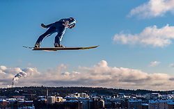 24.02.2017, Lahti, FIN, FIS Weltmeisterschaften Ski Nordisch, Lahti 2017, Nordische Kombination, Skisprung, im Bild Alessandro Pittin (ITA) // Alessandro Pittin of Italy during Skijumping of Nordic Combined competition of FIS Nordic Ski World Championships 2017. Lahti, Finland on 2017/02/24. EXPA Pictures © 2017, PhotoCredit: EXPA/ JFK