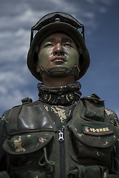 July 30, 2017 - Xilingol, Inner Mongolia, China - A grand military parade is held to celebrate the 90th anniversary of the founding of Chinese People's Liberation Army at Zhurihe training base in Xilingol,Inner Mongolia,China on 30th July 2017. (Credit Image: © TPG via ZUMA Press)