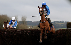 Raz De Maree ridden by James Bowen on their way to victory in the Coral Welsh Grand National Handicap Chase during Coral Welsh Grand National Day at Chepstow Racecourse, Chepstow.