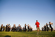The Oregon Marching Band competes in Sun Prairie, Wisconsin on July 3, 2010.