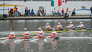 Amsterdam. NETHERLANDS.GER W4X Gold Medalist: Bow. Annekatrin THIELE, Carina BAER, Julia LIER and Lisa SCHMIDLA.    Bosbaan Rowing Course. 2014 World Rowing Championships . 16:20:58  Thursday  DATE}  [Mandatory Credit; Peter Spurrier/Intersport-images]