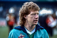 Jimmy Nicholl, N Ireland & Toronto Blizzards footballer, 19850505JN.<br /> <br /> Copyright Image from Victor Patterson, Belfast, UK<br /> <br /> t: +44 28 9066 1296 (from Rep of Ireland 048 9066 1296)<br /> m: +44 7802 353836<br /> e: victorpattersonbelfast@gmail.com<br /> <br /> www.images4media.com<br /> <br /> Please see my full Terms and Conditions of Use at https://www.images4media.com/p/terms-conditions - it is IMPORTANT that you familiarise yourself with them.<br /> <br /> Images used online incur an additional cost. This cost should be agreed in writing in advance. Online images must be visibly watermarked i.e. © Victor Patterson or that of the named photographer within the body of the image. The original metadata must not be deleted from images used online.<br /> <br /> This image is only available for the use of the download recipient i.e. television station, newspaper, magazine, book publisher, etc, and must not be passed on to a third party. It is also downloaded on condition that each and every usage is notified within 7 days to victorpattersonbelfast@gmail.com.<br /> <br /> The right of Victor Patterson (or the named photographer) to be identified as the author is asserted in accordance with The Copyright Designs And Patents Act (1988). All moral rights are asserted.