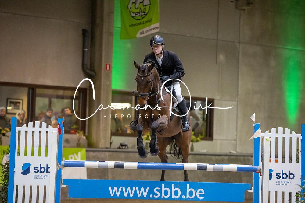 Van Steen Kris, BEL, Lucky One van de Conynenberg<br /> Nationaal Indoorkampioenschap  <br /> Oud-Heverlee 2020<br /> © Hippo Foto - Dirk Caremans