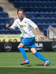 Morton's Scott Taggart.<br /> Falkirk 3 v 1 Morton, Scottish Championship 17/8/2013.<br /> ©Michael Schofield.