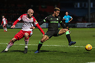 Forest Green Rovers Junior Mondal(25) during the EFL Sky Bet League 2 match between Stevenage and Forest Green Rovers at the Lamex Stadium, Stevenage, England on 26 January 2019.