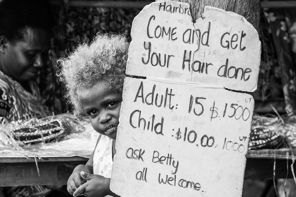 Come and get your hair done, Vanuatu