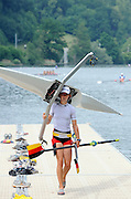 Lucerne, SWITZERLAND. GER LW1X Laura [TASCH] TIBITANZL,  GV's General views Lake Rotsee, venue for the 2008 FISA World Cup Regatta, Round 2.  Thursday, 29/05/2008.   [Mandatory Credit:  Peter Spurrier/Intersport Images].Lucerne International Regatta. Rowing Course, Lake Rottsee, Lucerne, SWITZERLAND.