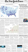 October 02, 2021 - USA: Front-page: Today's Newspapers In United States