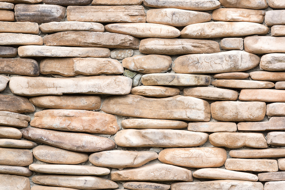 Stone wall, Sitka, Alaska.