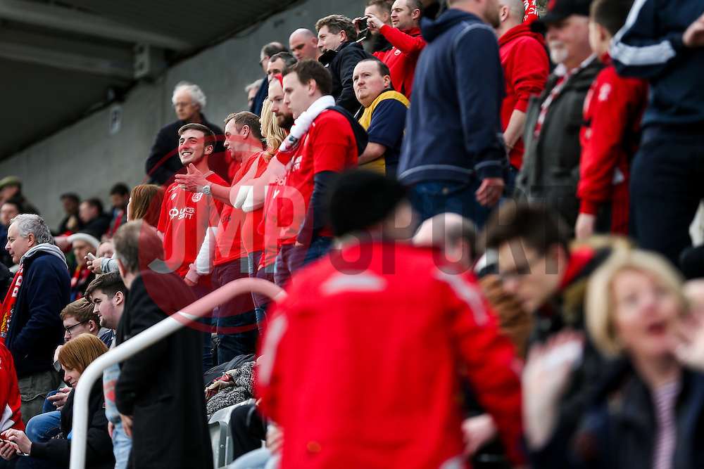 Bristol City fans in the away stand - Rogan Thomson/JMP - 25/02/2017 - FOOTBALL - St James' Park - Newcastle, England - Newcastle United v Bristol City - Sky Bet EFL Championship.