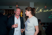 CARL FREEDMAN; TRACEY EMIN, Counter Editions 10th anniversary party. Rivington Grill. Shoreditch. London. 5 May 2010 *** Local Caption *** -DO NOT ARCHIVE-© Copyright Photograph by Dafydd Jones. 248 Clapham Rd. London SW9 0PZ. Tel 0207 820 0771. www.dafjones.com.<br /> CARL FREEDMAN; TRACEY EMIN, Counter Editions 10th anniversary party. Rivington Grill. Shoreditch. London. 5 May 2010
