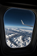 View from a window seat on a flight from Denver to Seattle