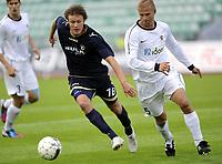 Fotball<br /> 12.07.2012<br /> Qualification Europa League Q1<br /> Kvalifisering til Europa League Q1<br /> Stabæk v JJK Jyvaskyla 3:2 (3:4 agg)<br /> Foto: Morten Olsen, Digitalsport<br /> <br /> Mads Stokkelien - Stabæk<br /> Juha Pasoja - JJK