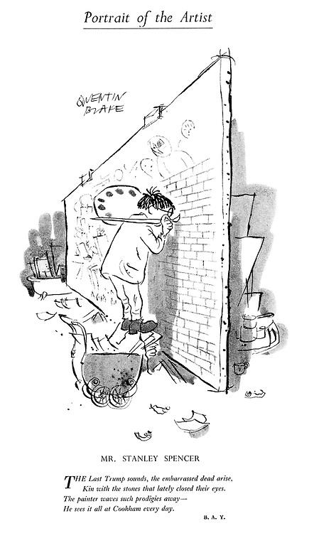 Portrait of the Artist. Mr Stanley Spencer