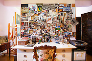 The Portland, Oregon home of Wendy Burden, author of  the memoir, Dead End Gene Pool.  The office off of the living room is filled with collectables and photographs.