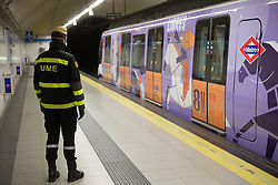 March 17, 2020, Madrid, Spain: Fourth day after the Government declared the state of alarm in Spain and recommended people to stay at home to fight coronavirus COVID-19 in Madrid, Spain. (Credit Image: © Joaquin Corchero/AFP7 via ZUMA Wire)