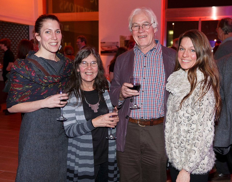 Celtic Connections Civic reception at Royal Concert Hall. L to R :  Hannah, Lena, Peter and Kirsty Shepheard . Picture Robert Perry for The Herald and  Evening Times 14th Jan 2016<br /> <br /> Must credit photo to Robert Perry<br /> FEE PAYABLE FOR REPRO USE<br /> FEE PAYABLE FOR ALL INTERNET USE<br /> www.robertperry.co.uk<br /> NB -This image is not to be distributed without the prior consent of the copyright holder.<br /> in using this image you agree to abide by terms and conditions as stated in this caption.<br /> All monies payable to Robert Perry<br /> <br /> (PLEASE DO NOT REMOVE THIS CAPTION)<br /> This image is intended for Editorial use (e.g. news). Any commercial or promotional use requires additional clearance. <br /> Copyright 2014 All rights protected.<br /> first use only<br /> contact details<br /> Robert Perry     <br /> 07702 631 477<br /> robertperryphotos@gmail.com<br /> no internet usage without prior consent.         <br /> Robert Perry reserves the right to pursue unauthorised use of this image . If you violate my intellectual property you may be liable for  damages, loss of income, and profits you derive from the use of this image.