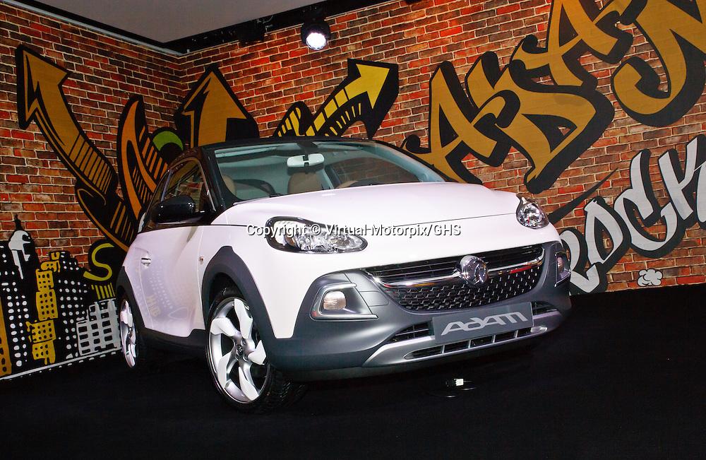 Vauxhall (Opel) Adam Rocks, at launch function in Geneva 3 March 2014