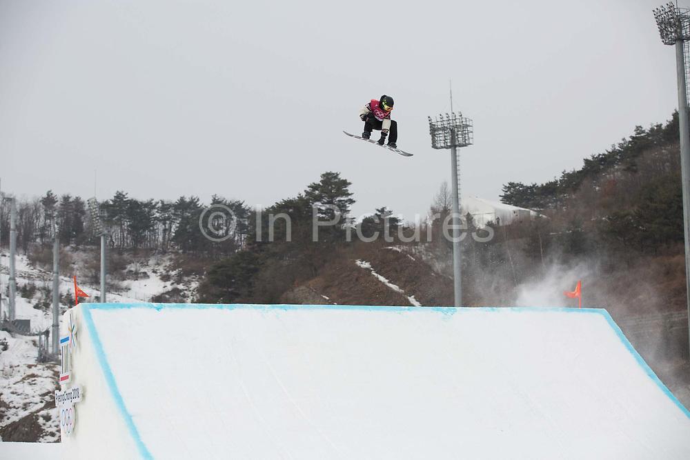 Sebastien Toutant, Canada, at the mens snowboard big air finals at the Pyeongchang 2018 Winter Olympics on 24th February 2018, at the Alpensia Ski Jumping Centre in Pyeongchang-gun, South Korea