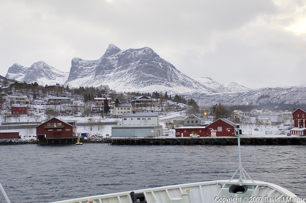 Ørnes Norway. Image taken from the M/V Kong Harald on Day 3 of the Northbound Hurtigruten Voyage. Image taken with a Nikon D2xs and 28-70 mm f/2.8 lens (ISO 400, 28 mm, f/2.8, 1/125 sec)..