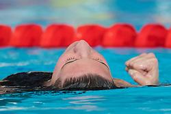 August 6, 2018 - Glasgow, UNITED KINGDOM - 180806 Charlotte Bonnet of France celebrates after winning the final of women's 200 meter freestyle swimming during the European Championships on August 6, 2018 in Glasgow..Photo: Joel Marklund / BILDBYRN / kod JM / 87769 (Credit Image: © Joel Marklund/Bildbyran via ZUMA Press)