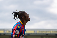 LONDON, ENGLAND - MAY 13:  Wilfried Zaha (11) of Crystal Palace, celebrates after scoring goal during  the Premier League match between Crystal Palace and West Bromwich Albion at Selhurst Park on May 13, 2018 in London, England. MB Media